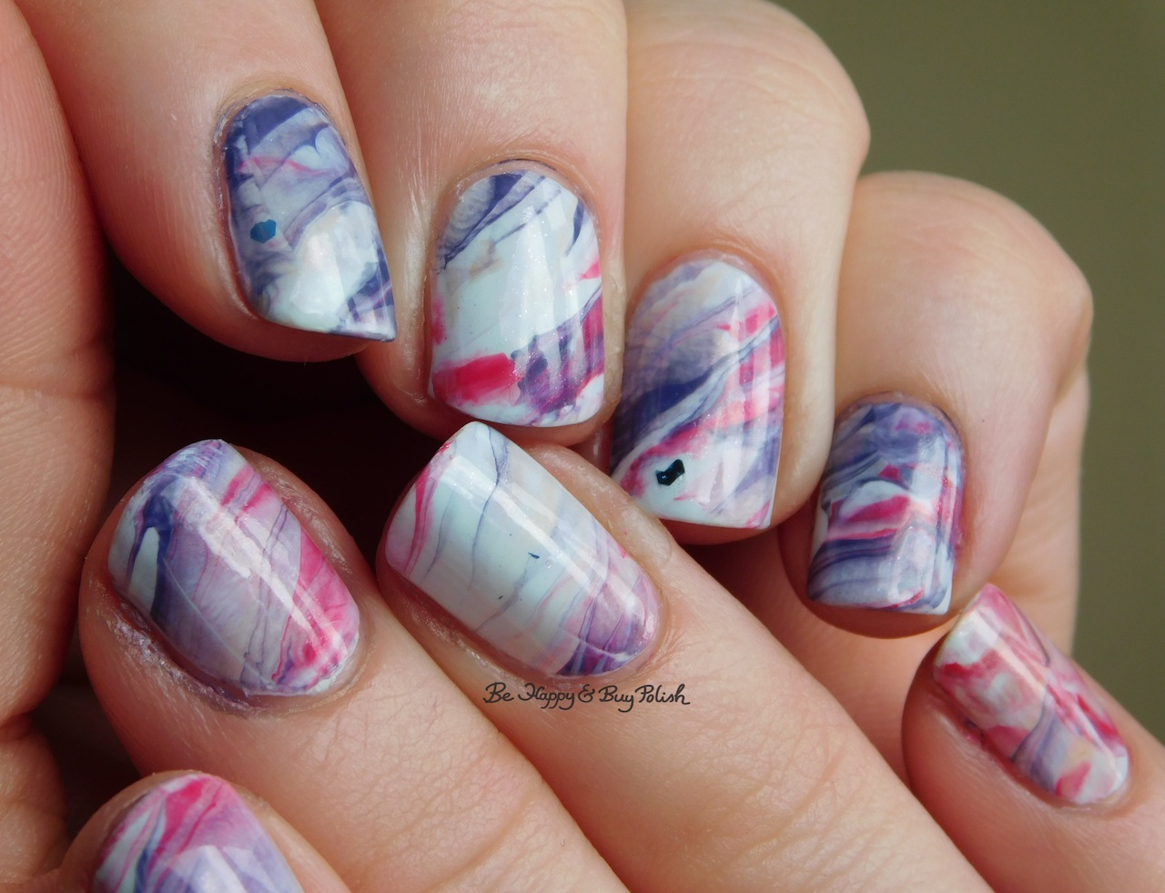 Marbled nail art with new Sinful Colors nail polishes plus swatches ...