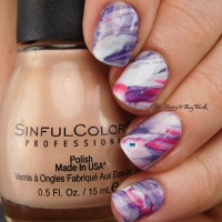 Marbled nail art with new Sinful Colors nail polishes plus swatches!