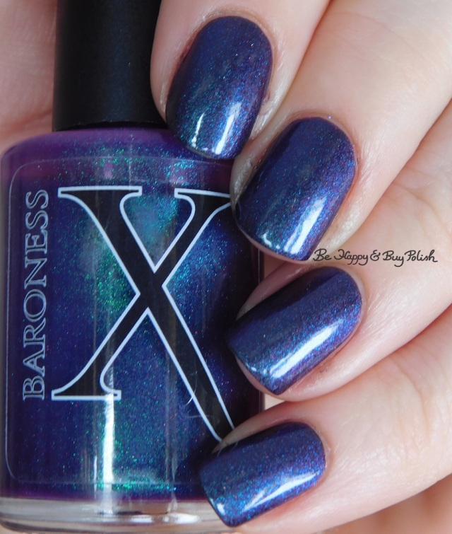 Baroness X Live Long and Paws-per over Blackheart Beauty Shimmer Satin Matte green | Be Happy And Buy Polish