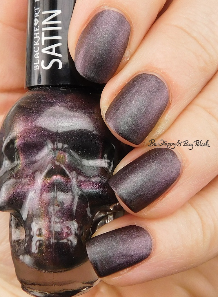 Blackheart Beauty Shimmer Satin Matte nail polish swatch + review ...