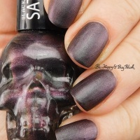 Blackheart Beauty Shimmer Satin Matte nail polish swatch + review