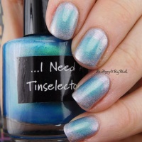 CrowsToes Nail Color I Need A Tinselectomy + the Holographic Principle manicure