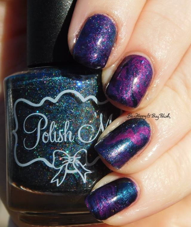 essie Jamaica Me Crazy, Polish 'M La Magie, Blackheart Beauty Iridescent Peacock dry marble nail art sunlight | Be Happy And Buy Polish
