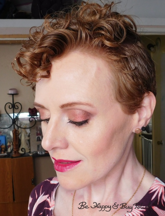 face of the day for redheads with Nyx Cosmetics Ulta Cosmetics Happy Birthday eyeshadow palette, Too Faced Melted Berry | Be Happy And Buy Polish