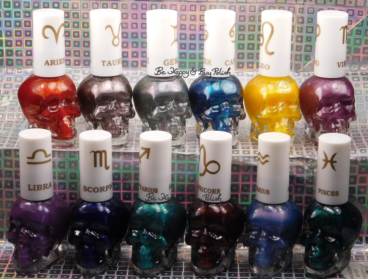 Hot Topic Zodiac Blackheart Beauty Nail Polish collection swatches + ...