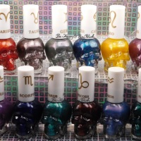 Hot Topic Zodiac Blackheart Beauty Nail Polish collection swatches + review