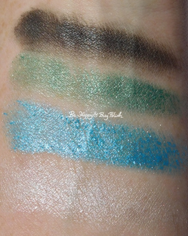 Hot Topic Marvel Infinity eyeshadow collection by Her Universe Cosmic, Space, Time, Annihilation arm swatches | Be Happy And Buy Polish