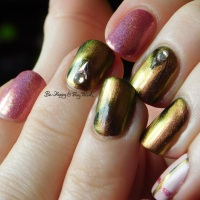 Simple magnetic plaid nail art with KBShimmer, Sinful Colors, and Pahlish