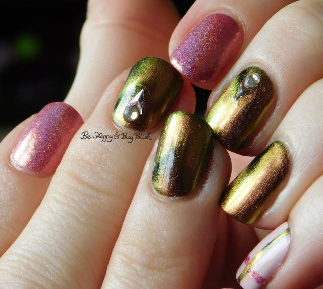 KBShimmer Let's Do Launch, Pahlish The Good Dalek, Sinful Colors Unicorns R Real simple plaid nail art full manicure | Be Happy And Buy Polish