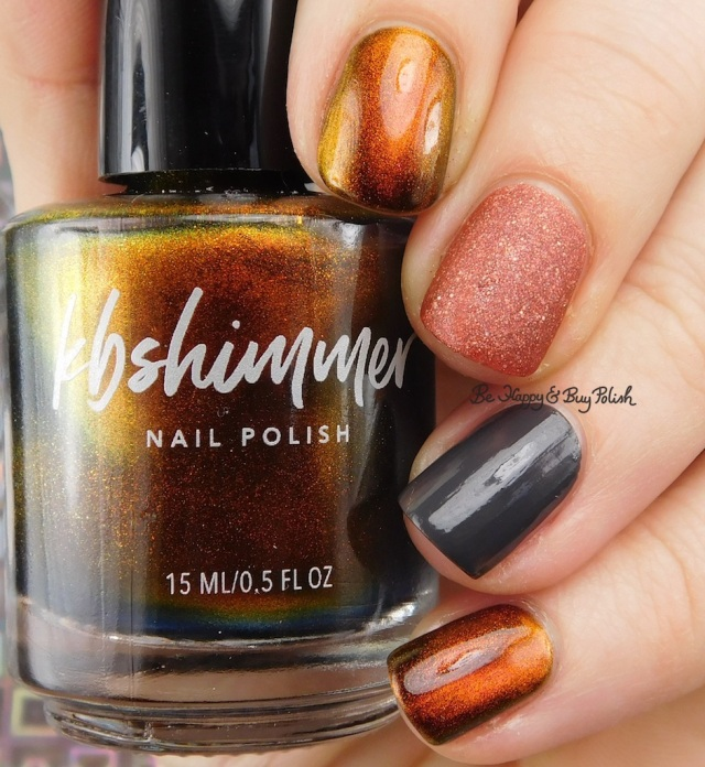 KBShimmer Solar Flare, Painted Polish Calls for Chocolate, Fancy Gloss dark grey creme mystery | Be Happy And Buy Polish