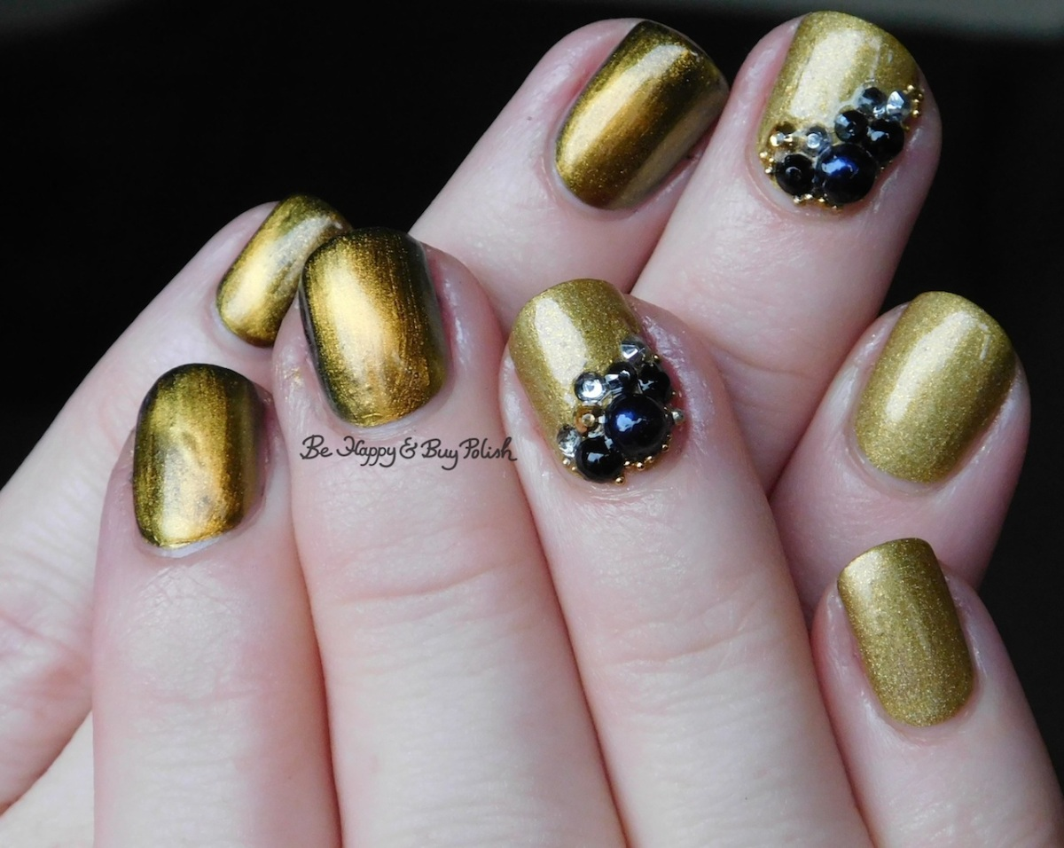 Glittery magnetic mani with KBShimmer and China Glaze #vintagepolishfriday