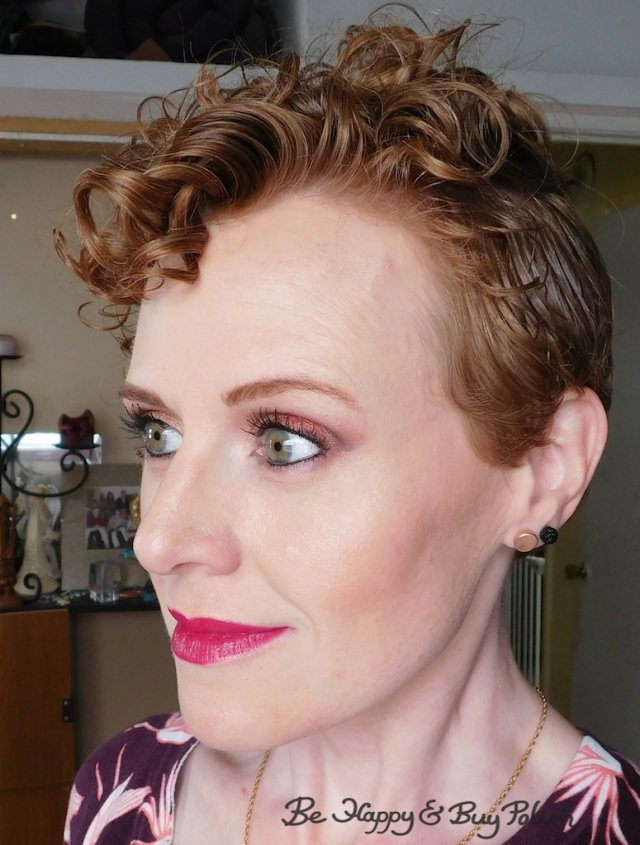 makeup for redheads with Nyx Cosmetics Ulta Cosmetics Happy Birthday eyeshadow palette, Too Faced Melted Berry | Be Happy And Buy Polish