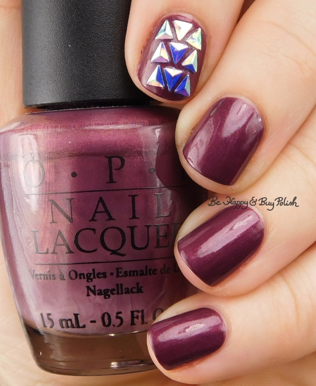 OPI Catherine the Grape with accent nail   Be Happy And Buy Polish