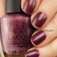 OPI Catherine the Grape with accent nail #vintagepolishfriday