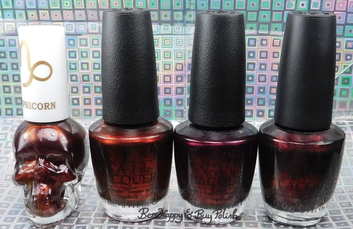 Hot Topic Blackheart Beauty Capricorn compared to OPI German-icure