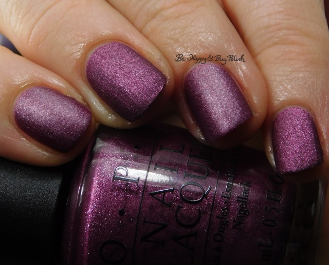 OPI We'll Always Have Paris Suede compared to Blackheart Beauty Virgo close up | Be Happy And Buy Polish