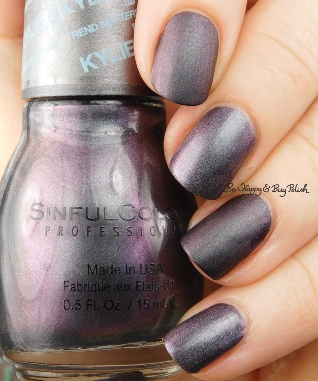 Sinful Colors Kylie Konstellation compared to Blackheart Beauty Shimmer Satin Matte   Be Happy And Buy Polish