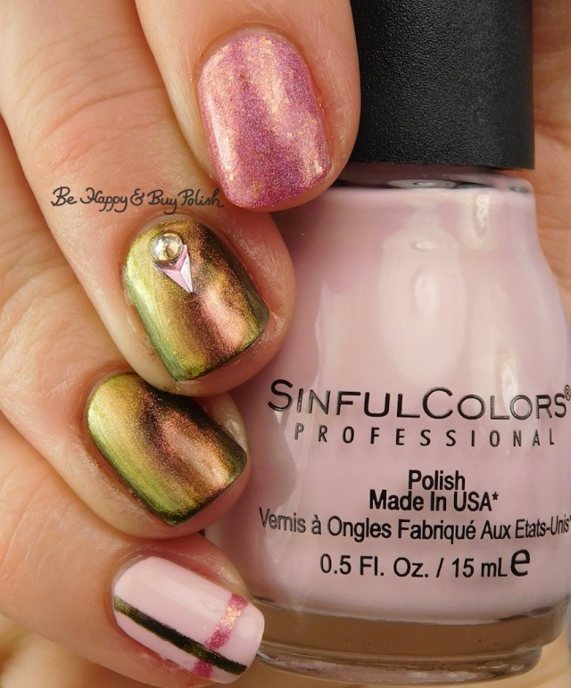 Sinful Colors Unicorns R Real, KBShimmer Let's Do Launch, Pahlish The Good Dalek simple plaid nail art | Be Happy And Buy Polish