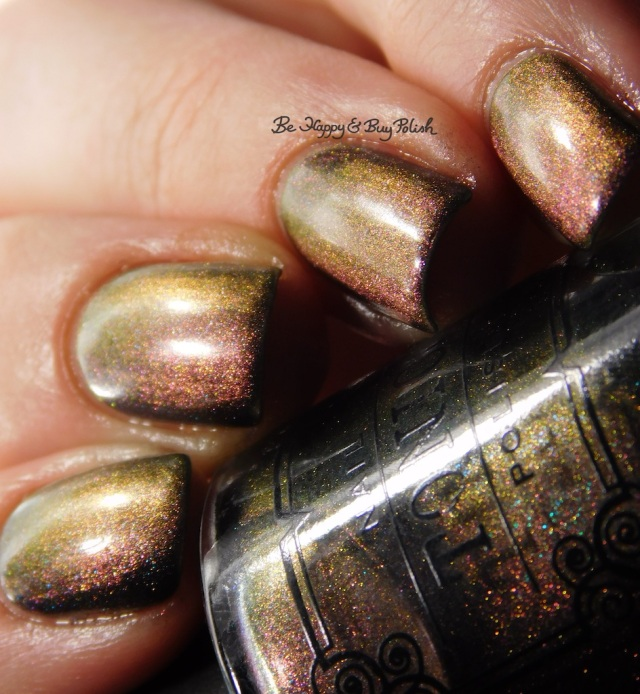 Tonic Polish Queen magnetic nail polish gold to pink shift | Be Happy And Buy Polish