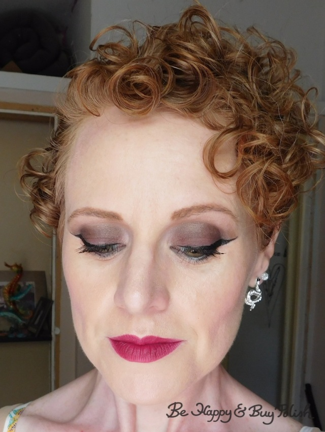 art deco inspired makeup look for redheads with Lorac Pirates of the Caribbean eyeshadow palette, Milani Enchanted Ruby | Be Happy And Buy Polish