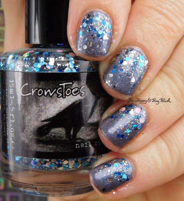 CrowsToes Nail Color Her Goose Got Iced, Celestial Cosmetics Saphira, Fancy Gloss Twinkle Lights | Be Happy And Buy Polish