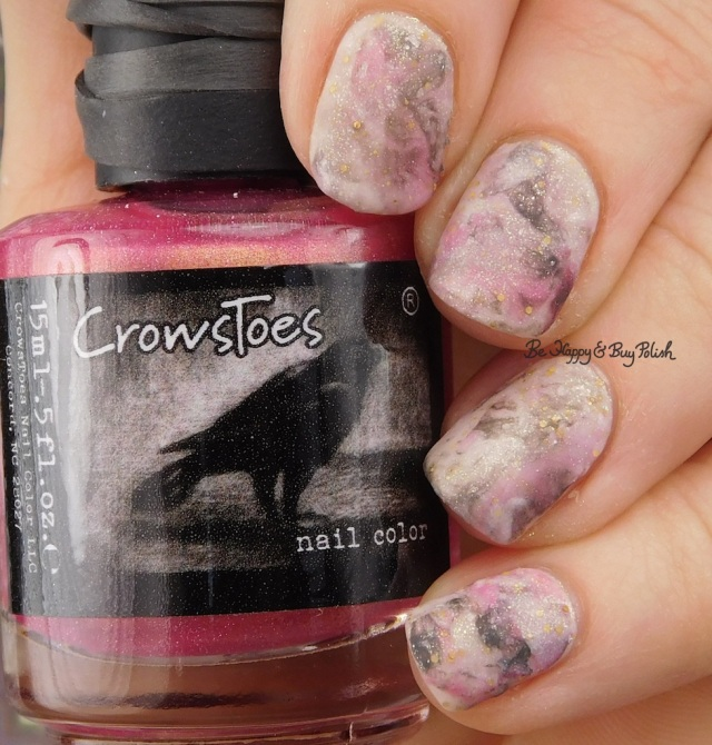 CrowsToes Nail Color Tequila Sunrise, Under Our Tree, Fancy Gloss grey mystery marble nail art manicure | Be Happy And Buy Polish