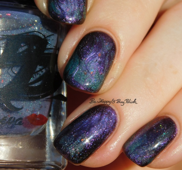 Don Deeva Cardiac Arrest'ed, Shleee Polish Annihilation magnetic thermal flame drag marble nail art