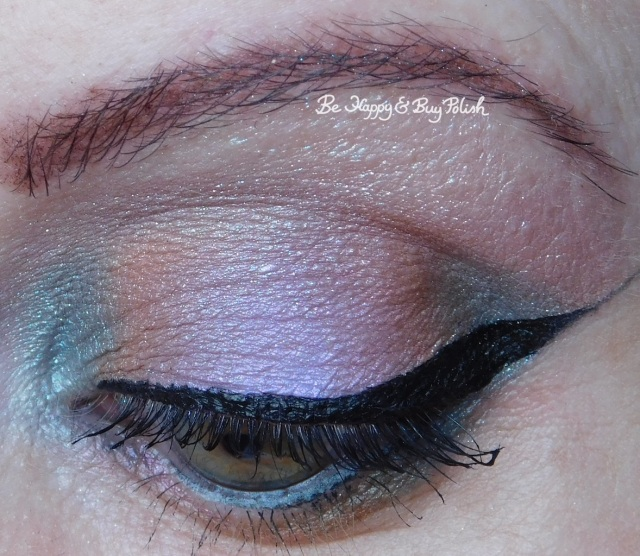 Glamour Doll Eyes Cloud Coverage, Fiji Mermaid, Cozy Sweater, Midnight Kiss, Unicorns with Attitude eye makeup look closeup | Be Happy And Buy Polish