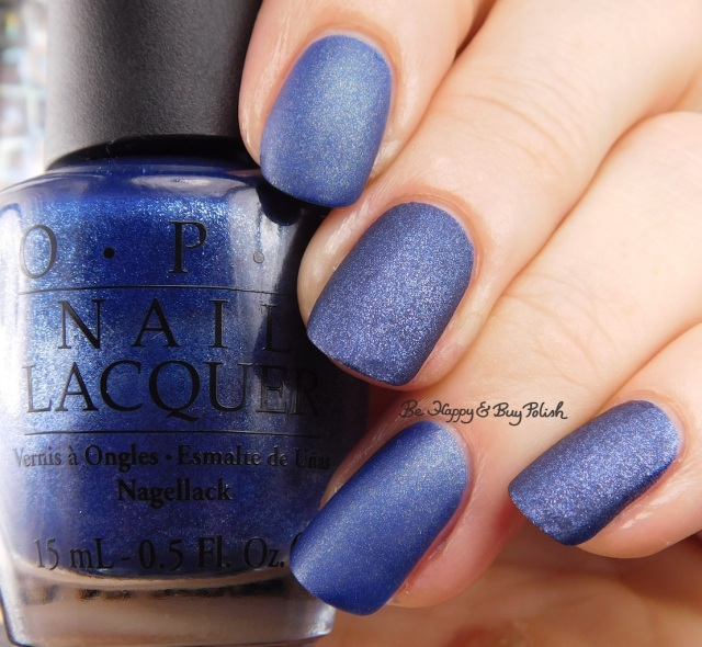 Hot Topic Blackheart Beauty Blue Matte Sparkle compared to OPI Russian Navy Suede | Be Happy And Buy Polish