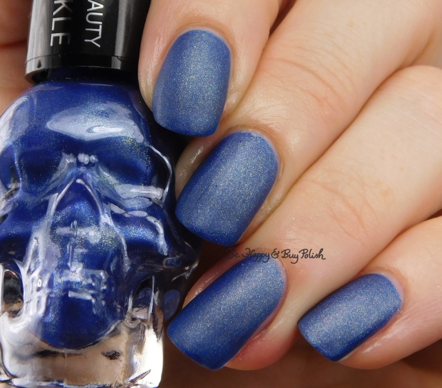 Hot Topic Blackheart Beauty Blue Matte Sparkle | Be Happy And Buy Polish