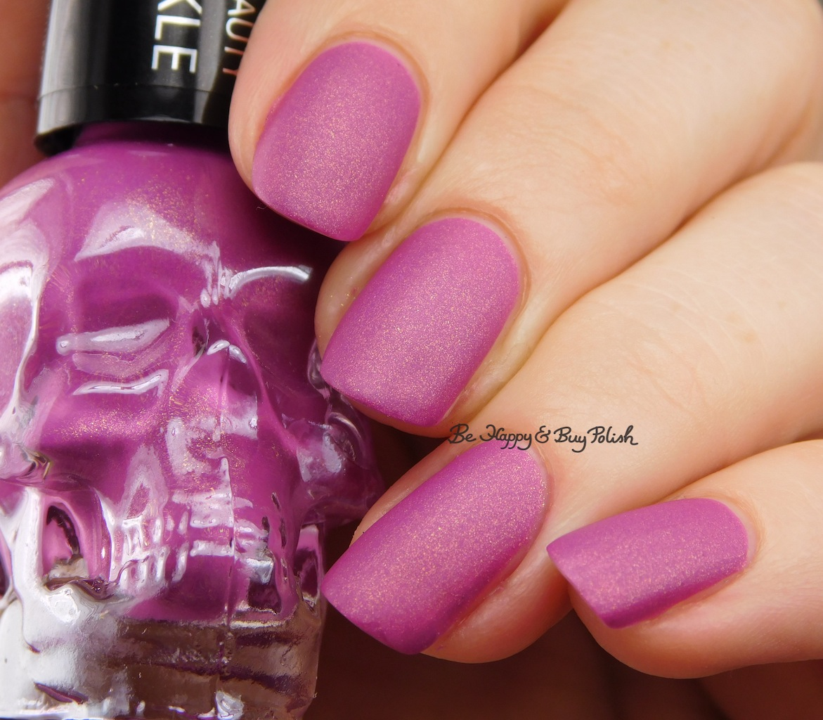 Hot Topic Blackheart Beauty Matte Sparkle nail polish swatches + ...
