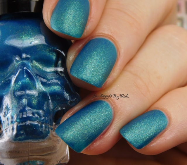 Hot Topic Blackheart Beauty Teal Matte Sparkle | Be Happy And Buy Polish