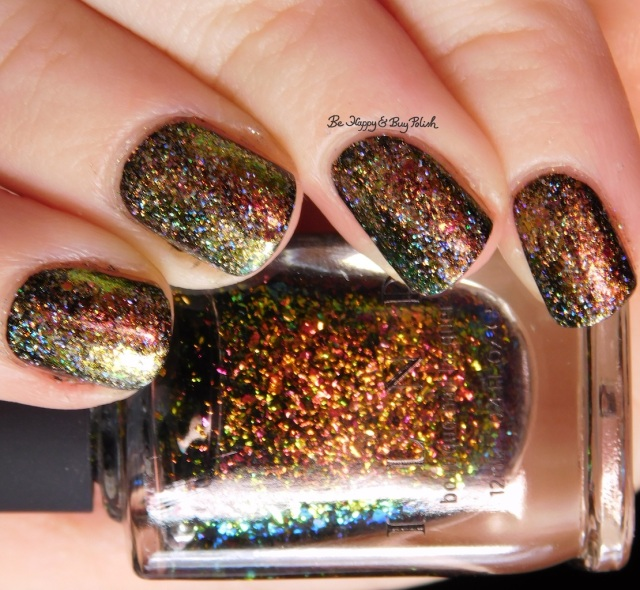 ILNP Brilliance, Versailles sponged nail art close up | Be Happy And Buy Polish