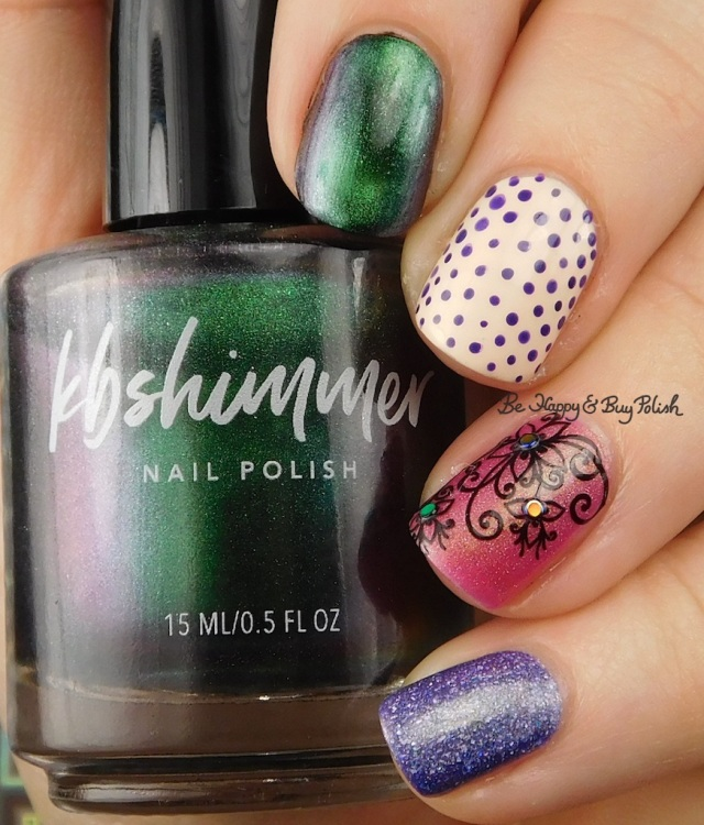 KBShimmer You Rocket My World, Sally Hansen Champagne Supernova, OPI Do You Have This Color in Stockholm, CrowsToes Tequila Sunrise Sparked, Polish 'M Cheer | Be Happy And Buy Polish