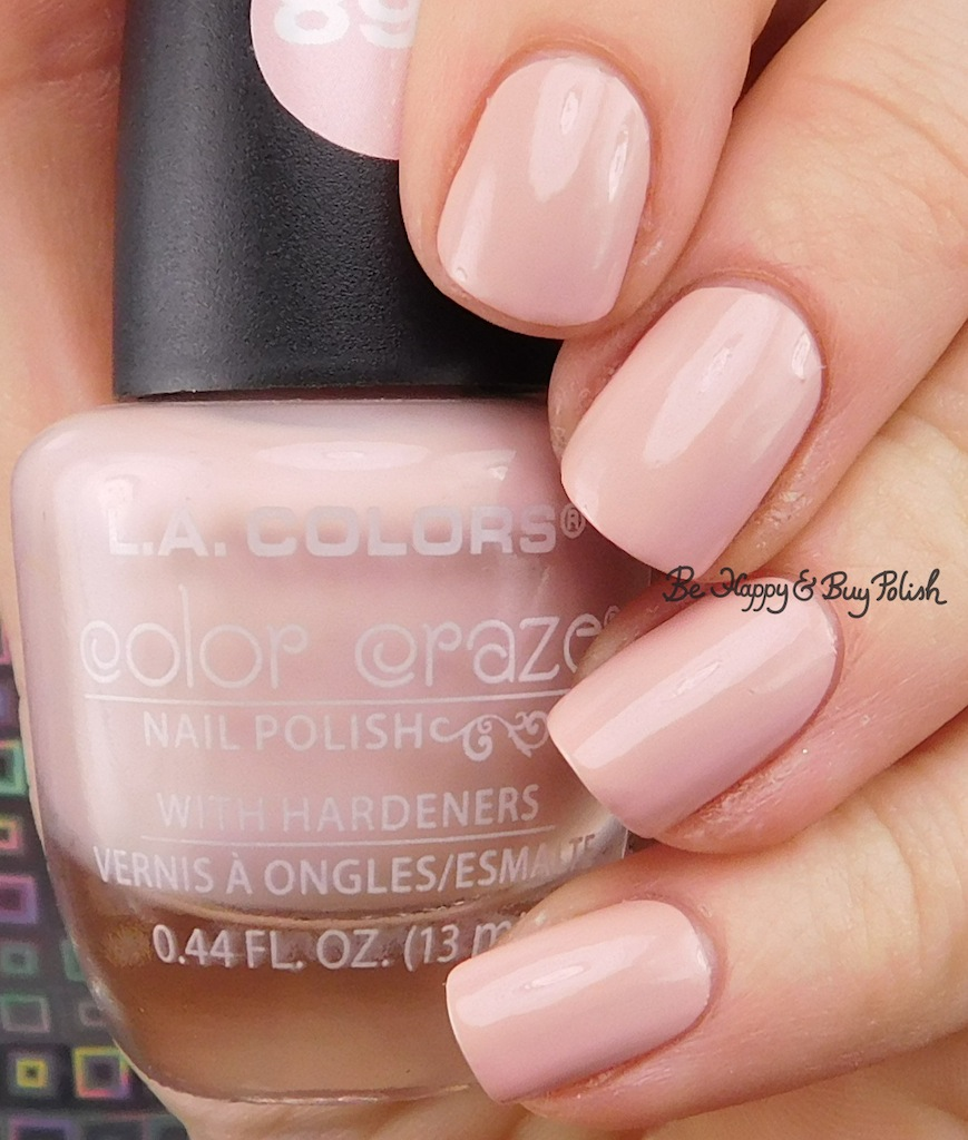 L.A. Colors Color Craze nail polish in Blushed | Be Happy and Buy Polish