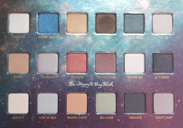 Lorac Treasure in the Stars Disney's Pirates of the Caribbean eyeshadow palette | Be Happy And Buy Polish