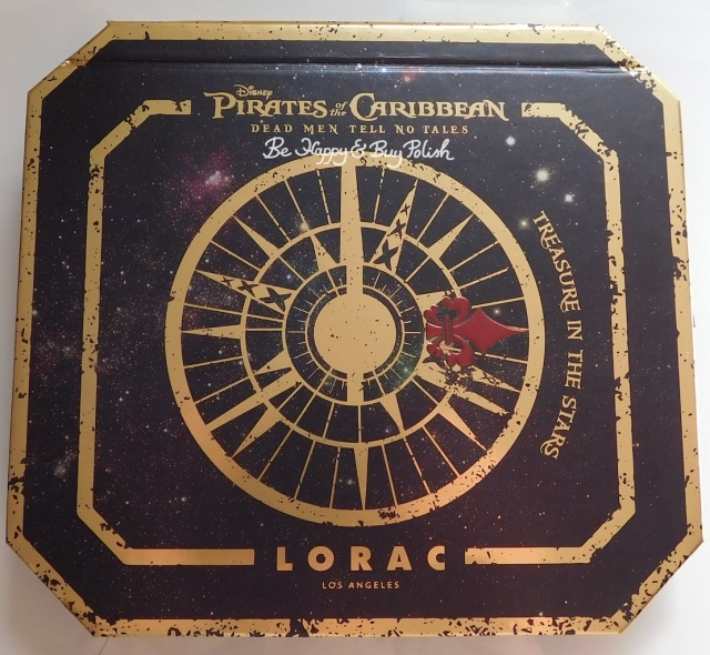Lorac Treasure in the Stars Pirates of the Caribbean eyeshadow palette | Be Happy And Buy Polish