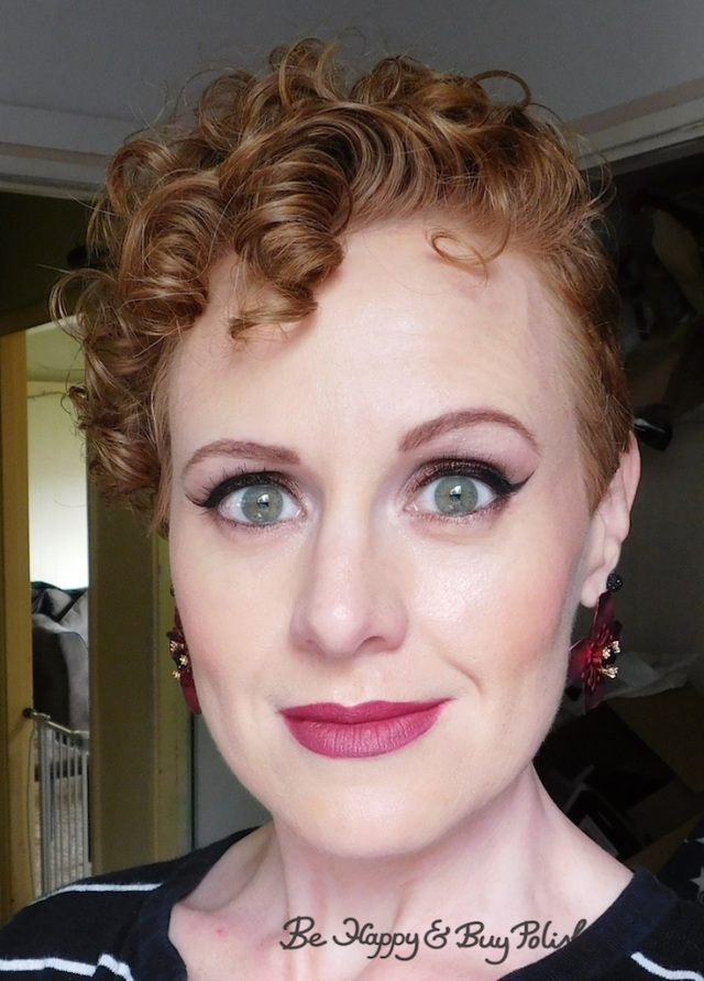 makeup look for redheads with Lorac Dead Men Tell No Tales eyeshadow palette, L.A. Girl Pro, Revlon Colorburst Matte Balm, Glamour Doll Eyes | Be Happy And Buy Polish
