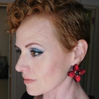 Blue eyeshadow of the day for redheads with Lorac Dead Men Tell No Tales eyeshadow palette