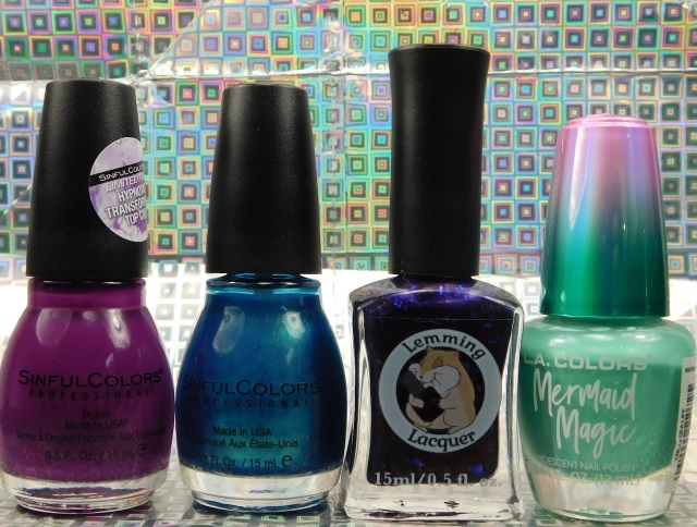 Sinful Colors Punk the Town, Aquamarine, Lemming Lacquer Ghosts of the Vault, L.A. Colors Mermaid Magic Sea Life | Be Happy And Buy Polish