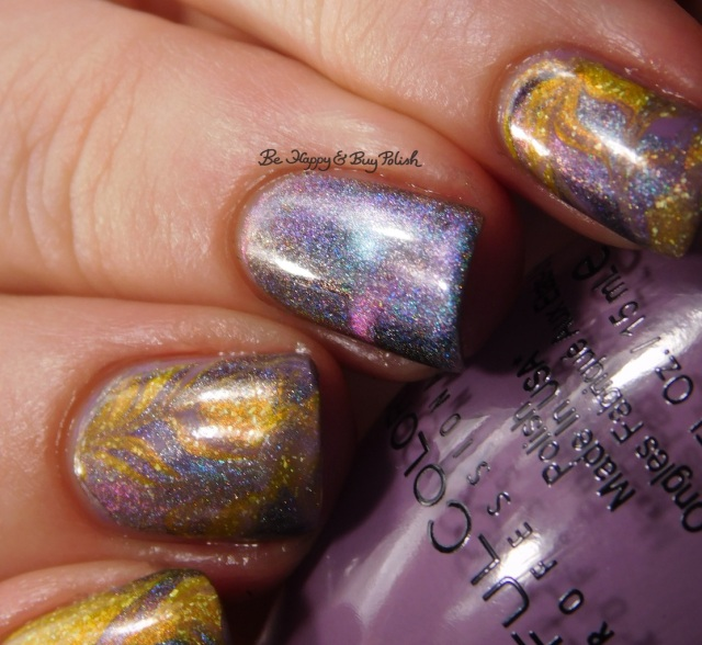 Sinful Colors Shock Candy, KBShimmer Squeeze the Day, Tonic Polish Ru marble nail art close up | Be Happy And Buy Polish