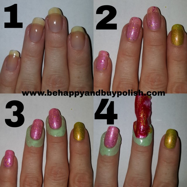Spotted marbled nail art tutorial part two | Be Happy And Buy Polish