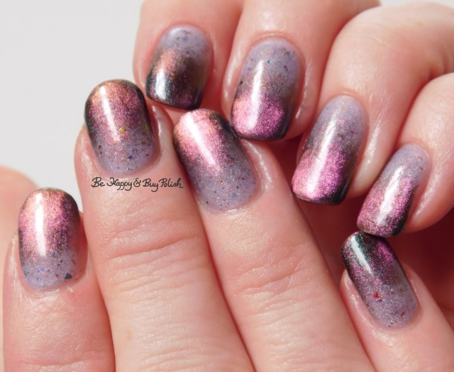 thermal magnetic gradient manicure with Don Deeva Box Office Bitch, Tonic Polish Queen   Be Happy And Buy Polish