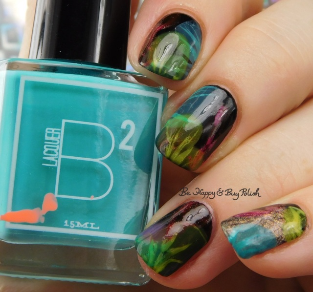 B Squared Lacquer Plur, Tonic Polish Caliente, Sinful Colors Diamond Blogs, Sinful Colors Out in Space, China Glaze Liquid Leather veiled nails | Be Happy And Buy Polish