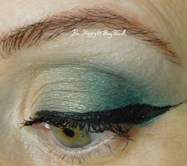 eyeshadow look with Glamour Doll Eyes Fiji Mermaid, NYX Cosmetics Happy Birthday palette | Be Happy And Buy Polish