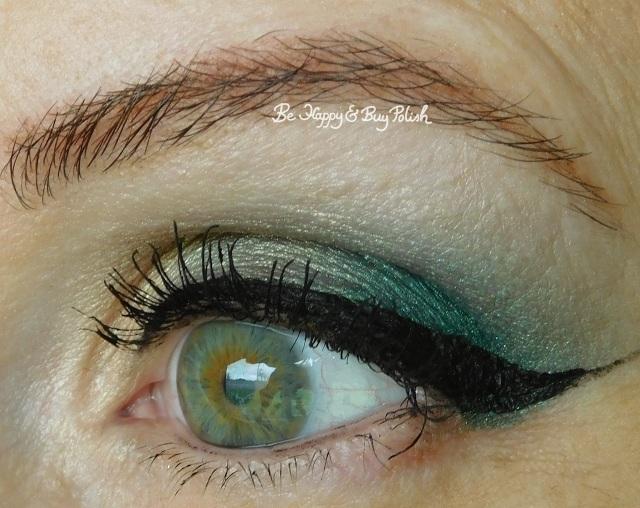 eyeshadow look with NYX Cosmetics Happy Birthday palette, Glamour Doll Eyes Fiji Mermaid | Be Happy And Buy Polish