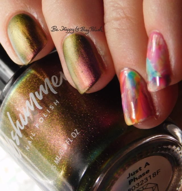 KBShimmer Just a Phase, Baroness X Fire Opal, Sinful Colors neon nail art decals | Be Happy And Buy Polish