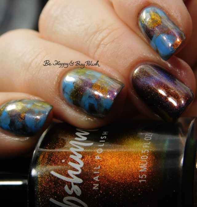 KBShimmer Solar Flair, Sinful Colors Rave New World, Shleee Polish Nightmarish smooshy magnetic manicure | Be Happy And Buy Polish