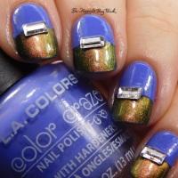 Color Blocking nail art with ILNP, Tonic Polish, L.A. Colors