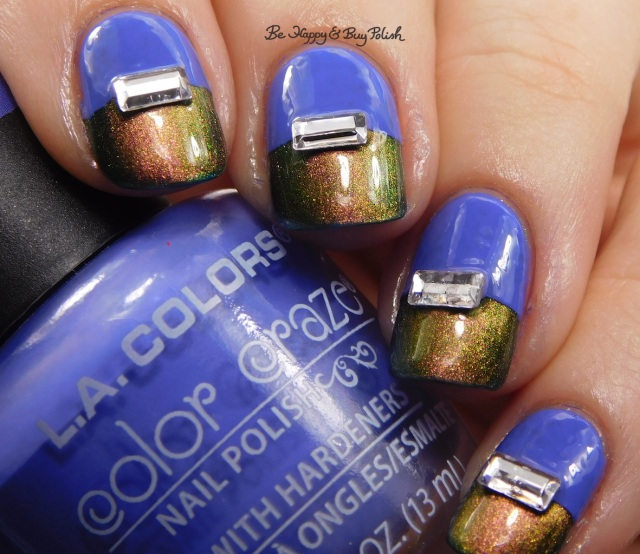 LA Colors Color Craze Revolutionary, Tonic Polish Flawless over ILNP High Tide | Be Happy And Buy Polish